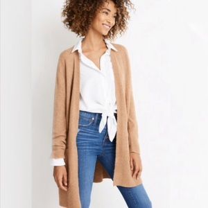Madewell Cozy Walker Open Front Long Cardigan